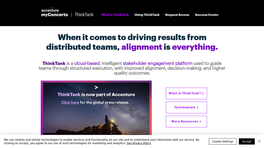 ThinkTank Landing Page