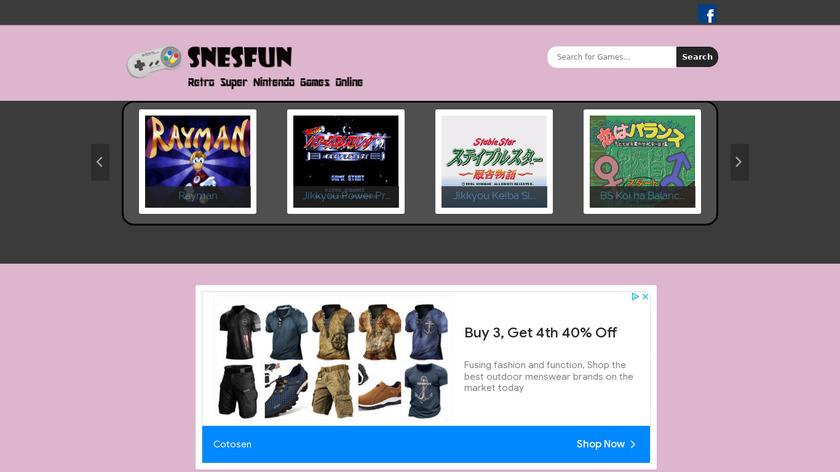 Snesfun Landing Page