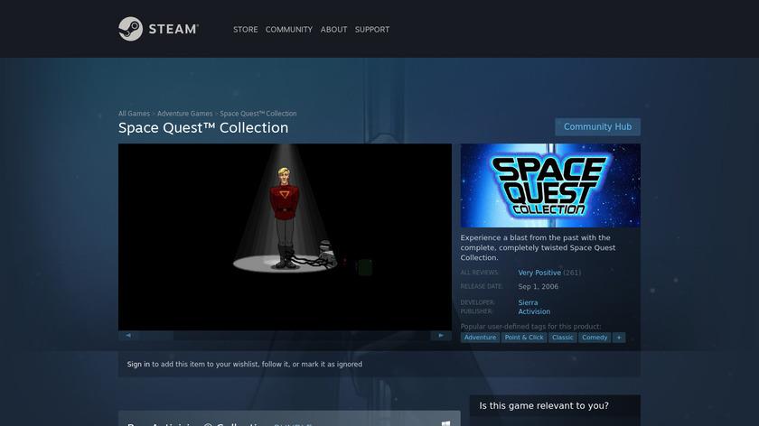 Space Quest Landing Page