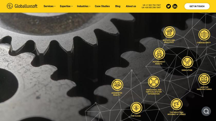 Globalluxsoft Landing Page