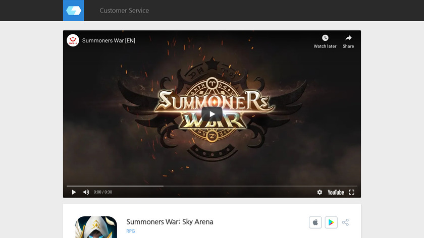 withhive.com Summoners War Landing Page
