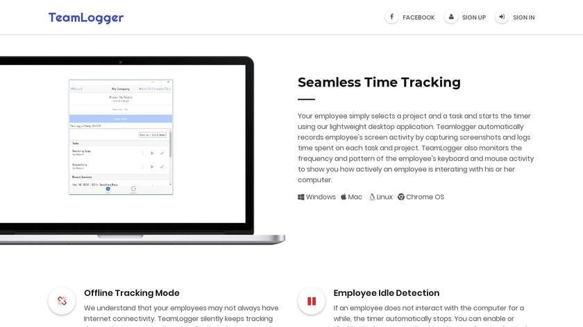 TeamLogger Landing Page