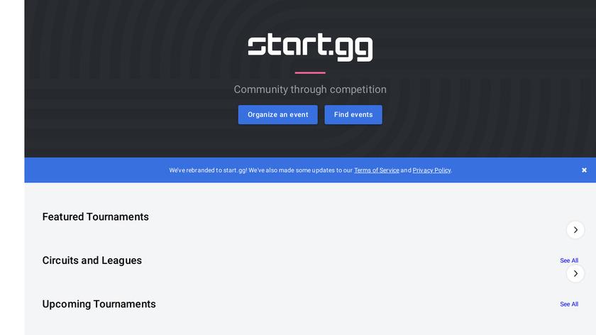 smash.gg Landing Page