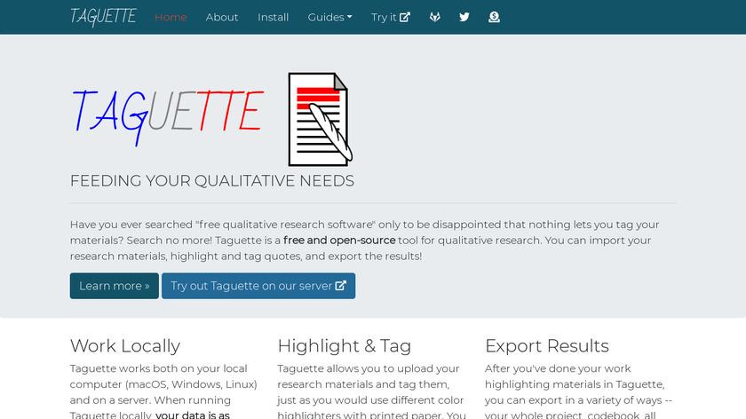 Taguette Landing Page