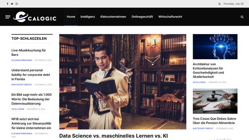 Calogic Landing Page