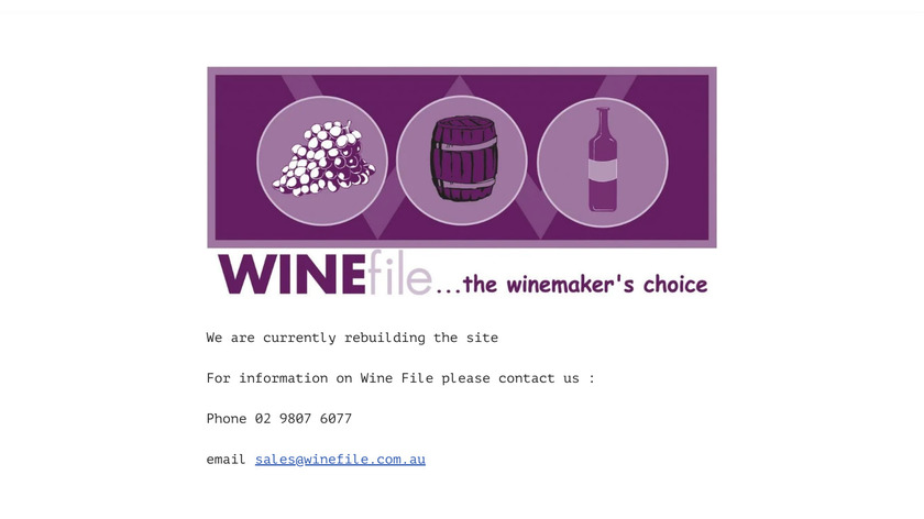 Wine File Winery Manager Landing Page