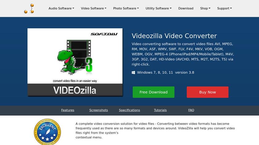 Videozilla Video Converter Landing Page