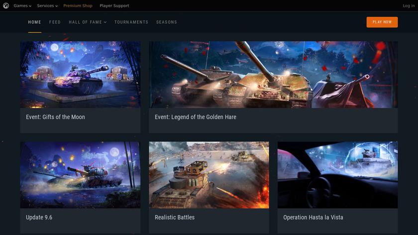 World of Tanks Blitz Landing Page