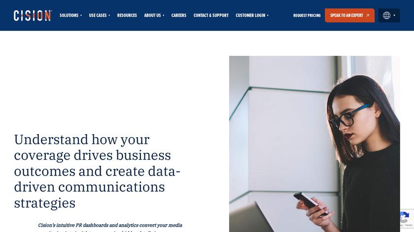 Cision Monitoring Landing Page