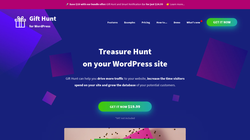Gift Hunt for WordPress Landing Page