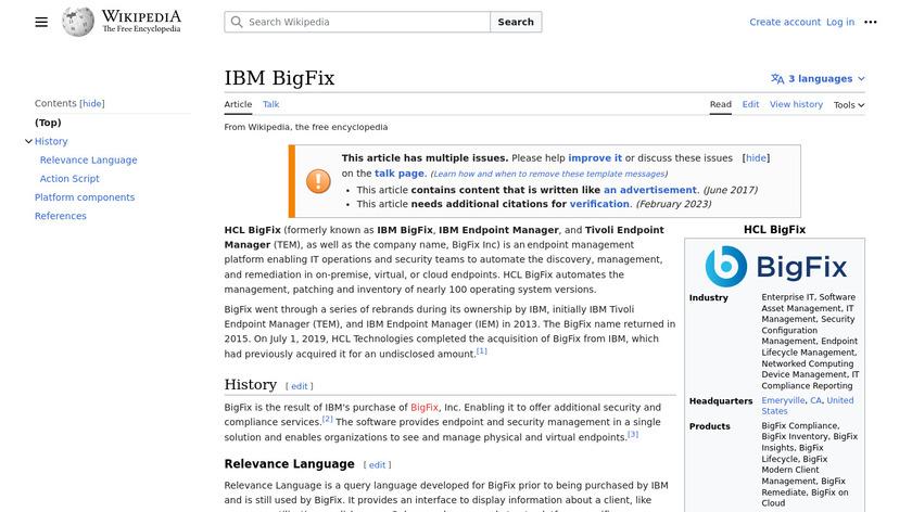 IBM BigFix Landing Page