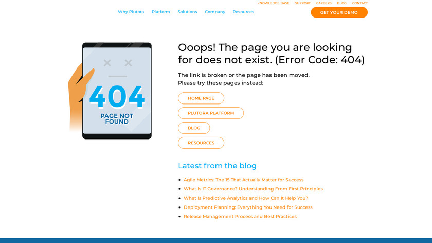 Plutora Release Management Landing Page