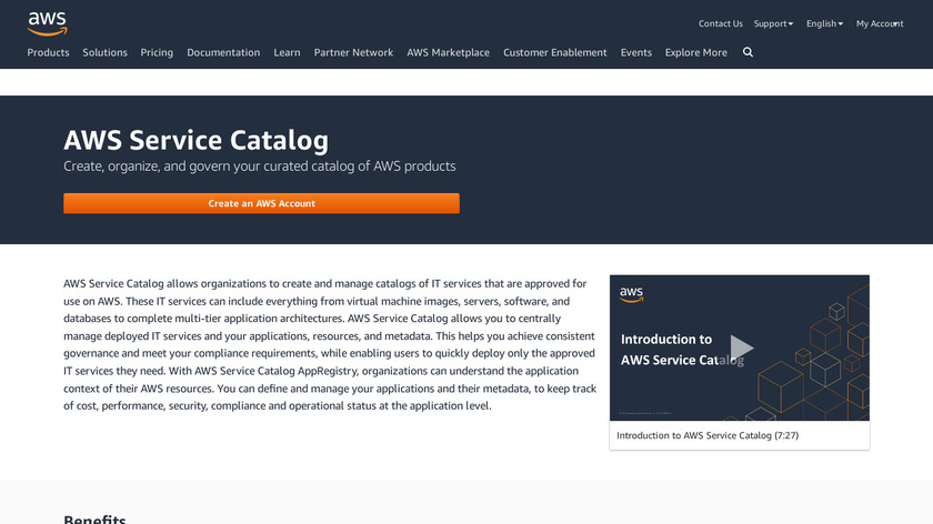 AWS Service Catalog Landing Page