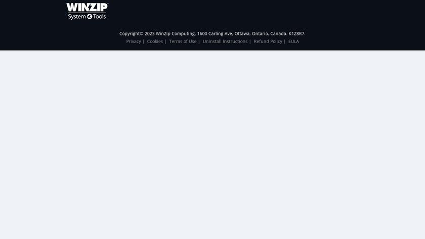 WinZip System Utilities Suite Landing Page