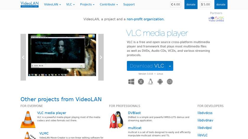 VideoLan Landing Page