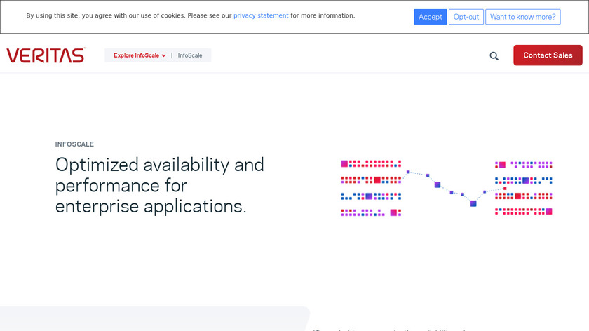 Veritas InfoScale Operations Manager Landing Page