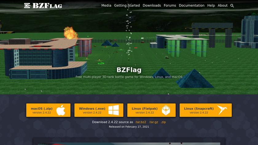 BZFlag Landing Page
