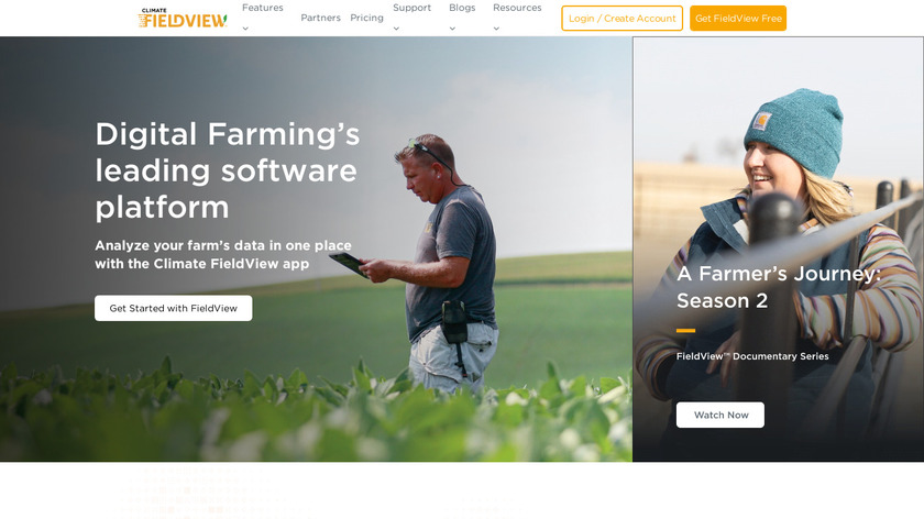 Climate FieldView Landing Page