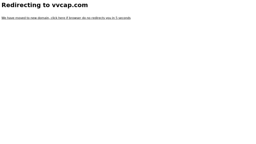 VVCap Landing Page