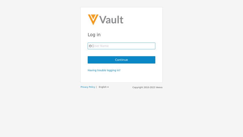 Veeva Vault Landing Page