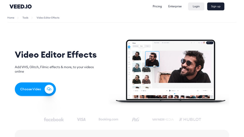Video Effects Landing Page
