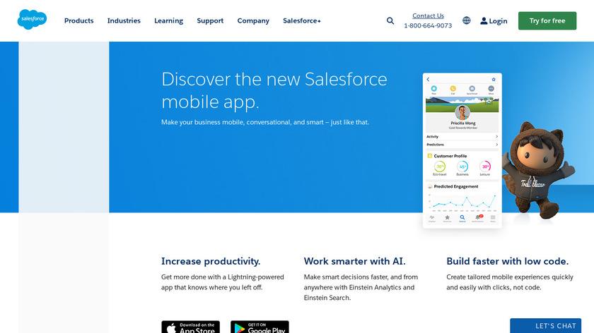 Salesforce Mobile Landing Page