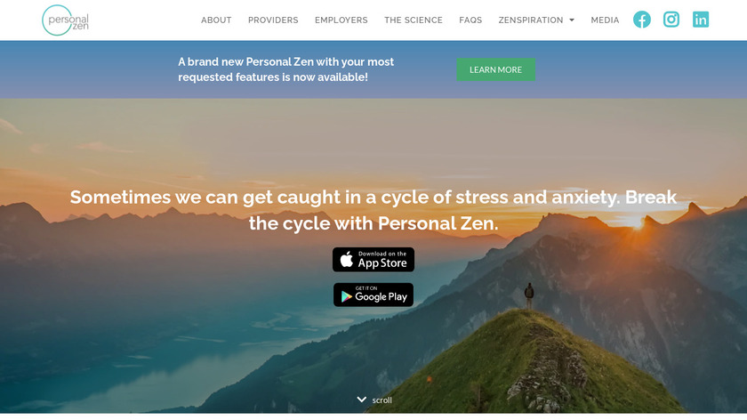 Personal Zen Landing Page
