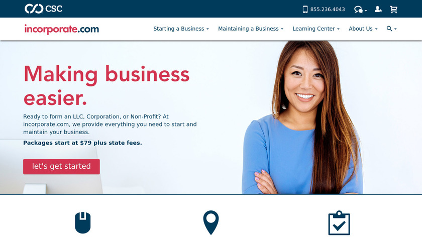 The Company Corporation Landing Page