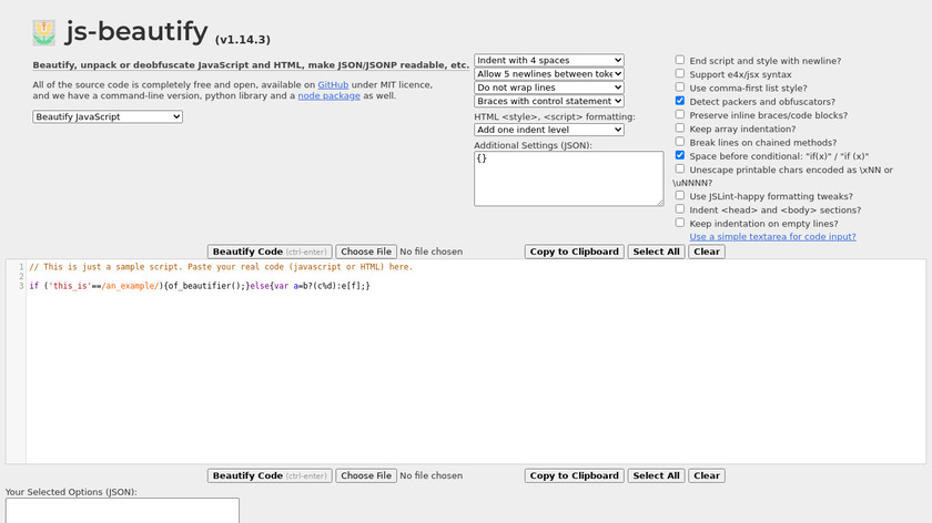 JS Beautifier Landing Page