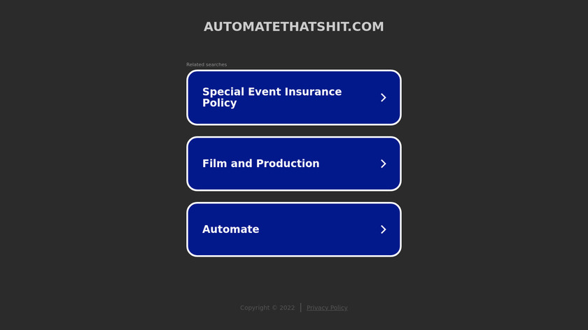 Automate That Shit Landing Page