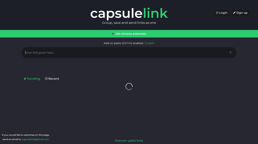 Capsulelink Landing Page