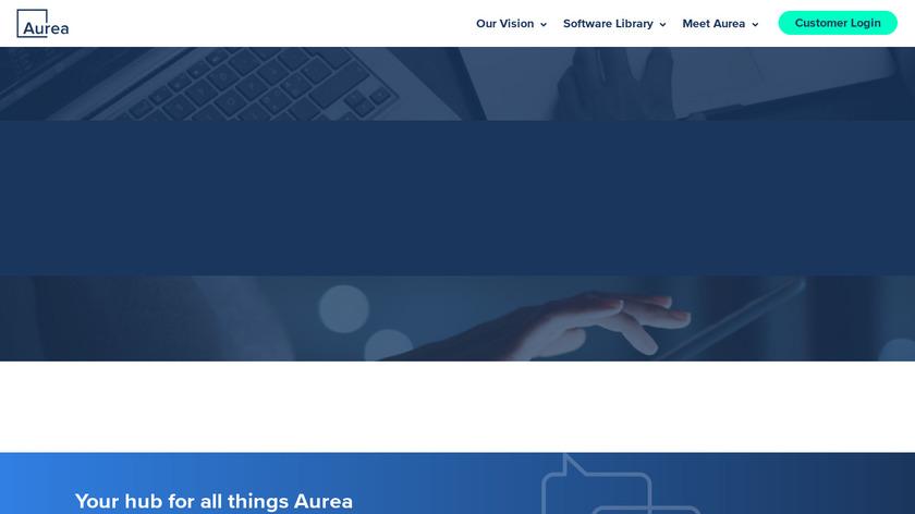 Aurea CX Platform Landing Page
