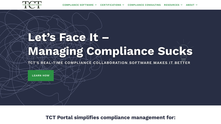 Total Compliance Tracking Landing Page
