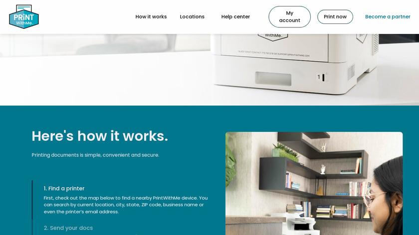 PrintWithMe Landing Page