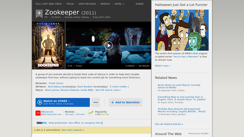 Zookeeper Landing Page