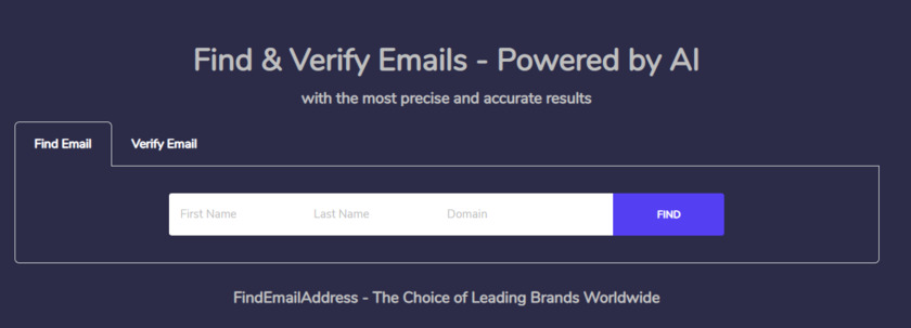 Find Email Address Landing Page