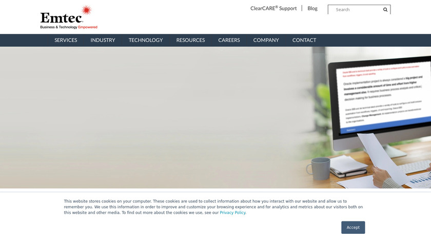 Emtec Landing Page