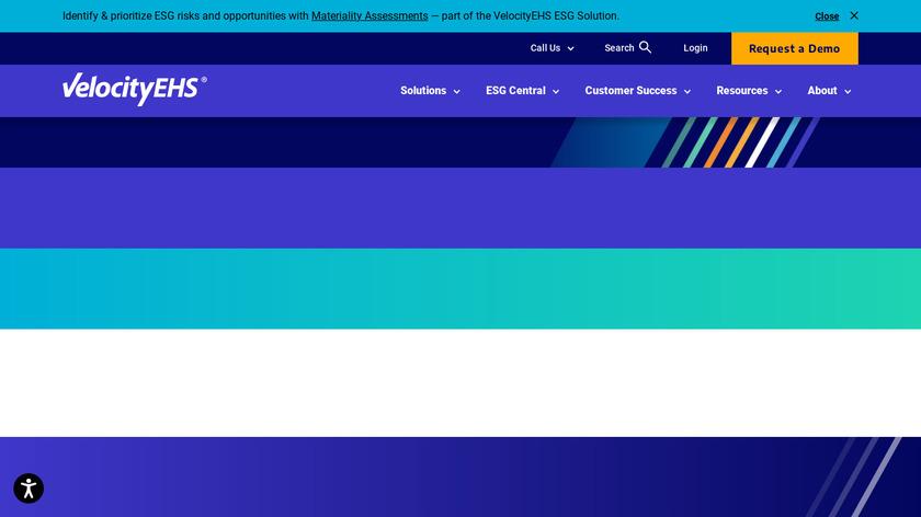 EHS Software Suite Landing Page