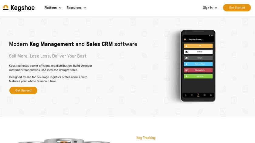 Kegshoe Keg Tracking Landing Page
