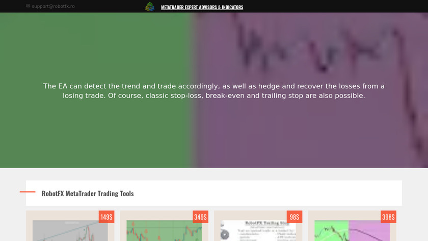 RobotFX Fluid Landing Page