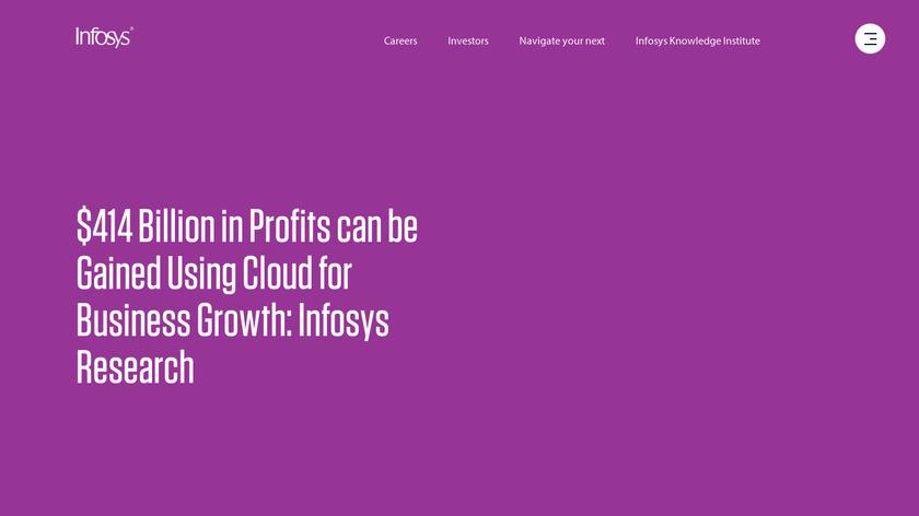 Infosys Landing Page
