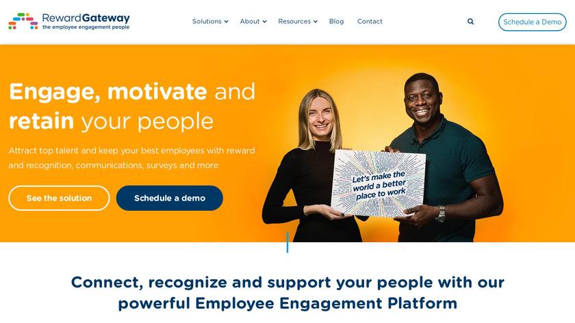 Reward Gateway Landing Page