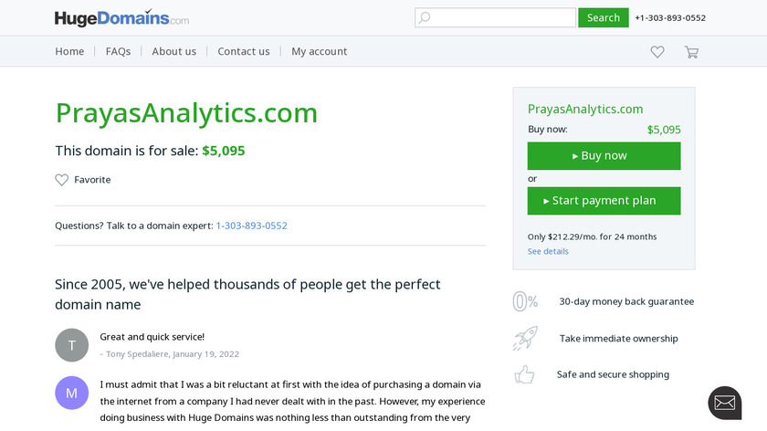Prayas Analytics Landing Page