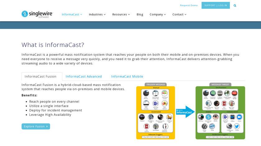 InformaCast Landing Page
