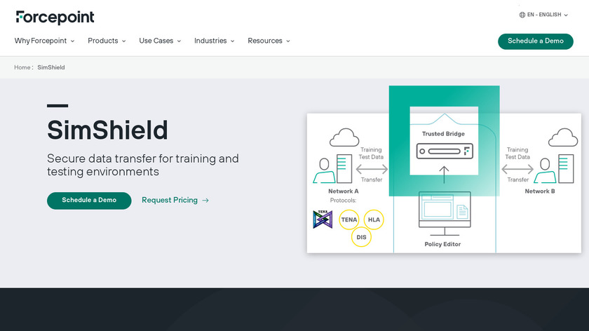Forcepoint SimShield Landing Page