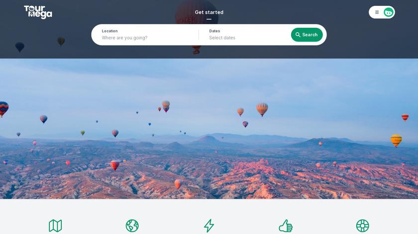 Tourmega Landing Page