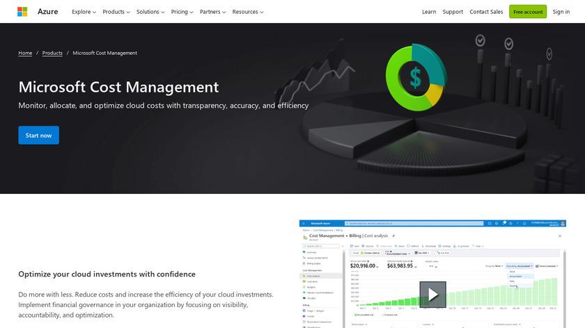 Azure Cost Management Landing Page
