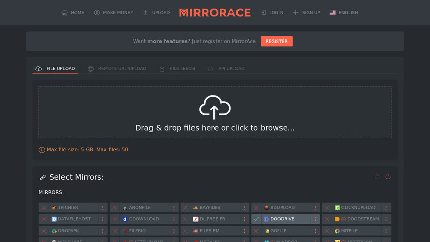 MirrorAce Landing Page