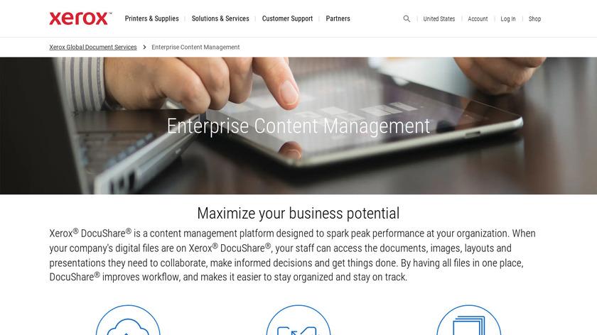 DocuShare Landing Page