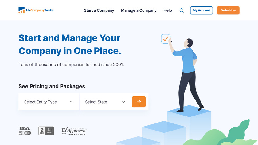 MyCompanyWorks Landing Page